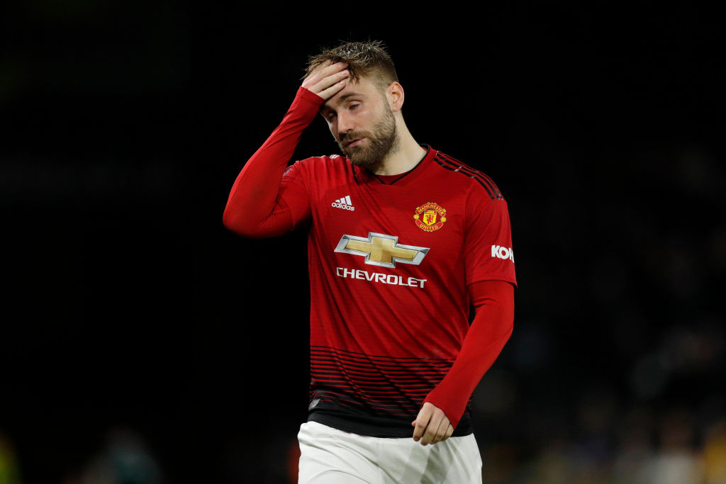 Manchester United boss Ole Gunnar Solskjaer immediately consoled Luke Shaw after mistake in FA Cup exit