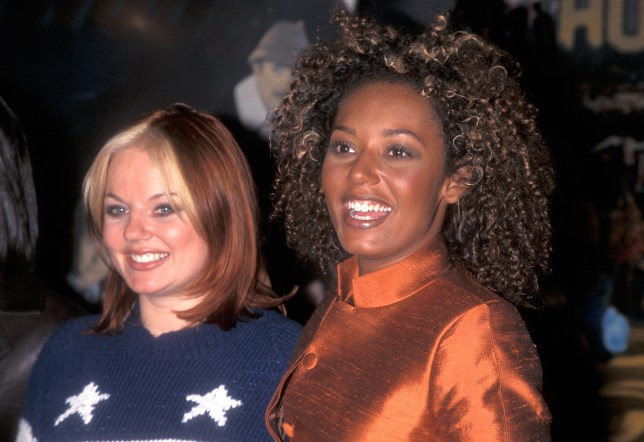 Mel B and Geri Halliwell in the Spice Girls