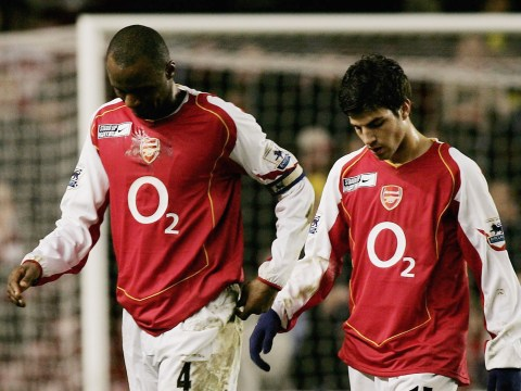 Cesc Fabregas reveals Patrick Vieira's joke about Arsenal exit during reunion
