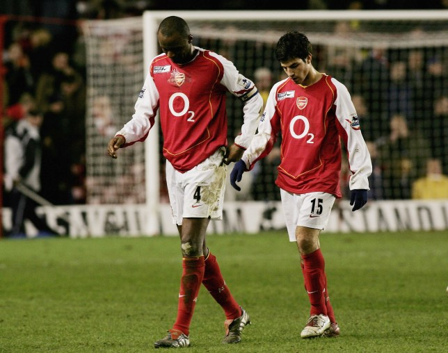 Patrick Vieira and Cesc Fabregas at Arsenal