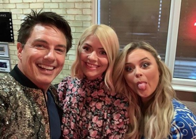 Holly Willoughby was joined by John Barrowman and Emily Atack on Celebrity Juice Picture: Instagram)