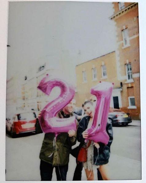 Liam Gallagher celebrates Molly Moorish's birthday