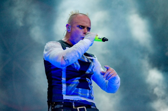 The Prodigy's Keith Flint on stage at the T in the Park Festival, Strathallan Castle, Perthshire, Scotland, Britain - 12 Jul 2015