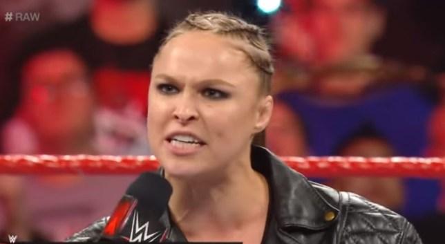 Ronda Rousey on RAW