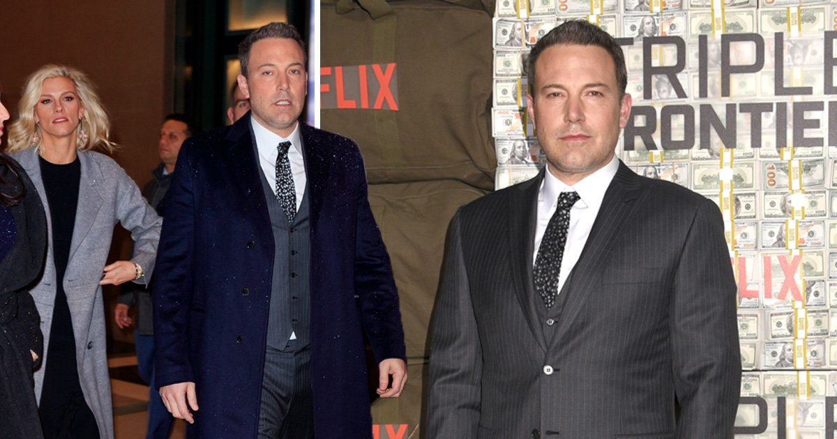 Ben Affleck attends Triple Frontier premiere with Lindsay Shookus after pair appear to rekindle romance