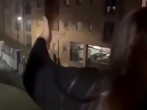 Fresher filmed screaming 'f**k off you don't belong here' at black students