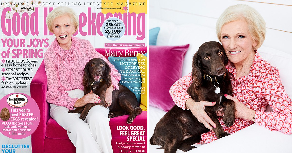 Mary Berry reveals she 'really watches the calories' to stay in shape as she graces cover of Good Housekeeping