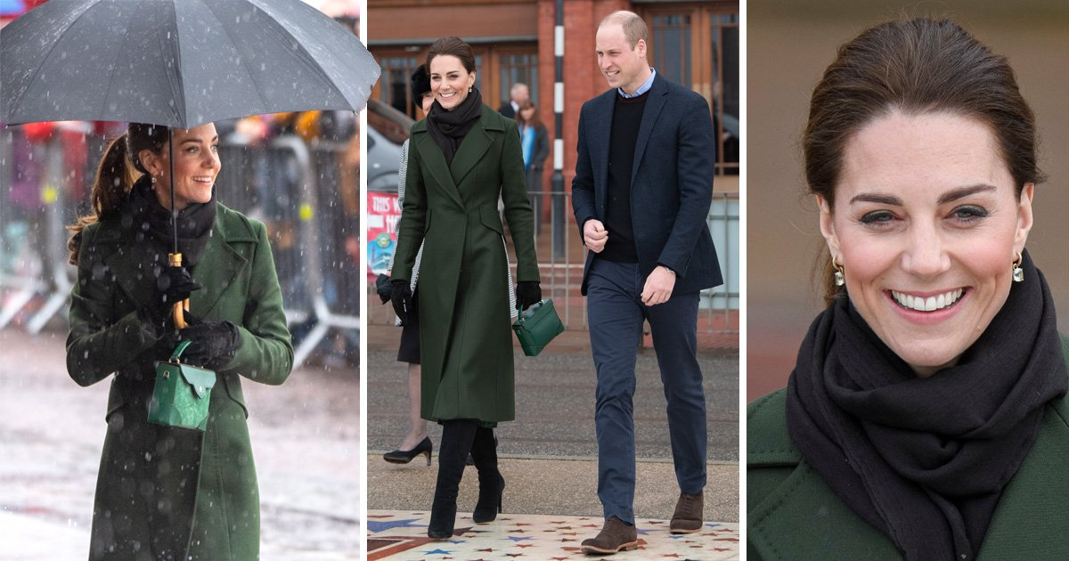 Prince William and Kate enjoy rainy day by the seaside in Blackpool