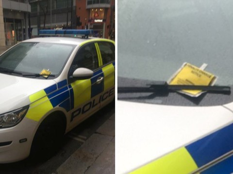 Cop gets parking ticket after stopping to buy lunch in a loading bay