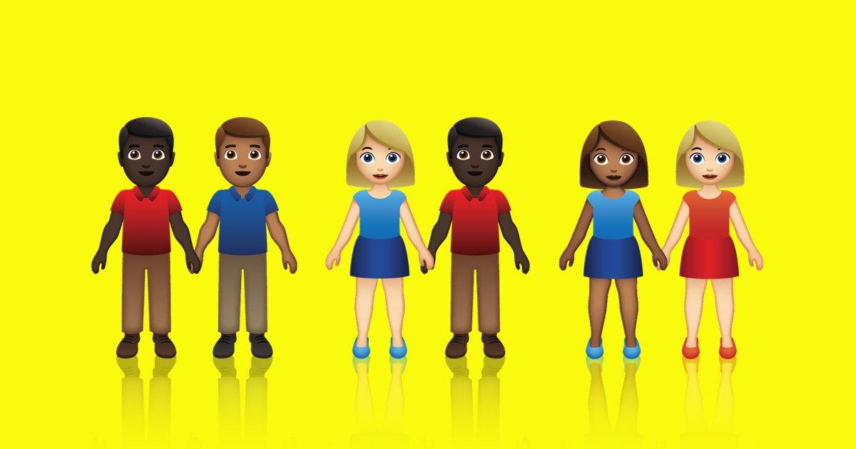 New emojis finally represent interracial couples