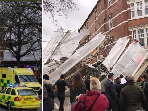 'Major incident' declared after scaffolding collapses by hospital in strong winds