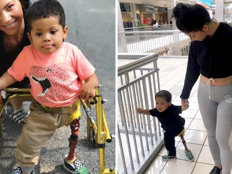 Toddler whose prosthetic leg was stolen gets a new one thanks to kindness of strangers