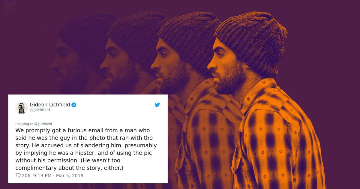 Outraged hipster manages to prove that 'all hipsters look the same'