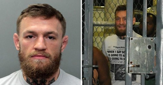 d99ee45e McGregor was arrested in Miami this week (Picture: MEGA TheMegaAgency.com)