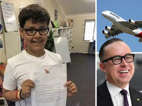 Boy's cute letter to Qantas boss asking how to set up an airline