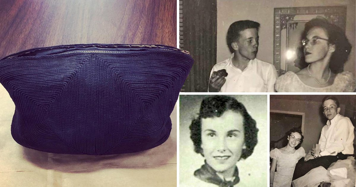 Woman reunited with handbag containing love letters and prom photos 65 years later