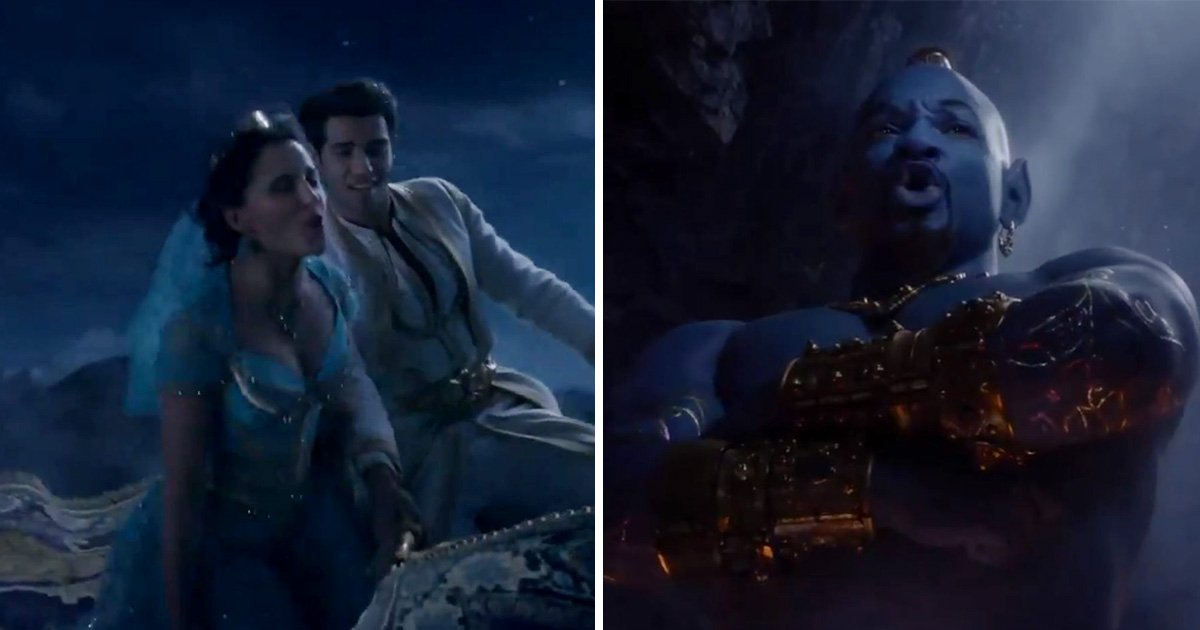 Aladdin trailer unveils A Whole New World and Will Smith's Genie isn't blue again