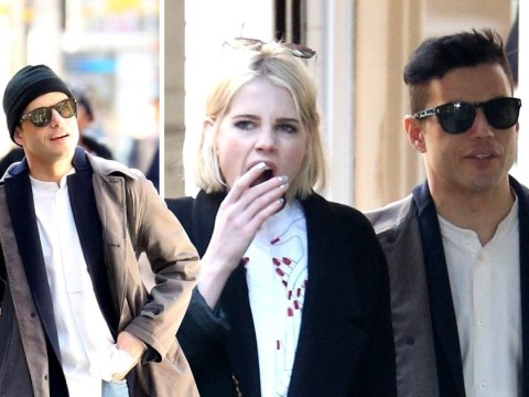 Rami Malek struggles to keep Lucy Boynton's attention as Bohemian Rhapsody star yawns on sunshine stroll