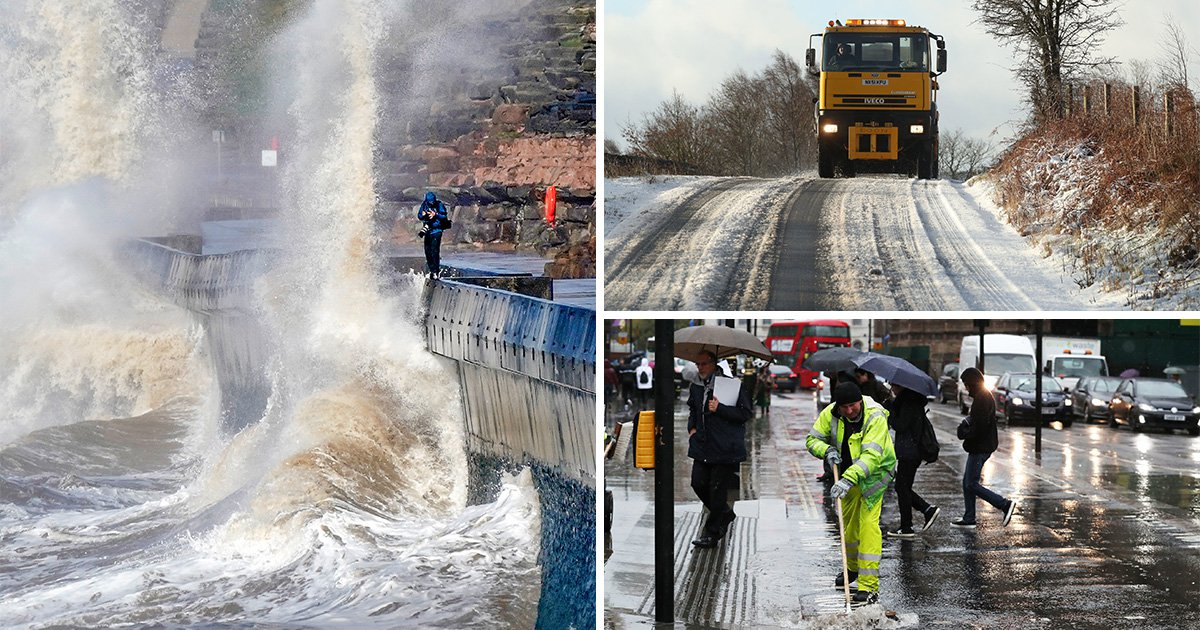 Storm Gareth to batter rush hour commuters with 80mph winds