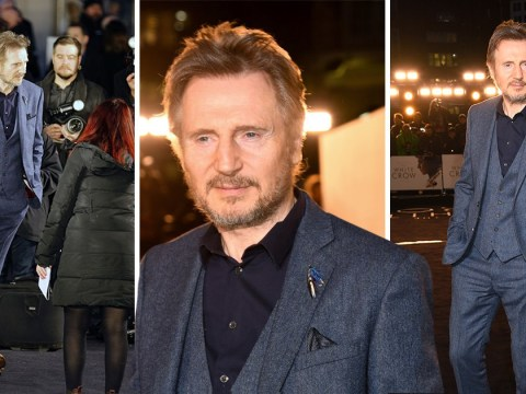 Liam Neeson returns to red carpet after racism row for The White Crow premiere