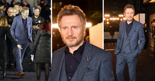 Liam Neeson returns to red carpet after racism row for White