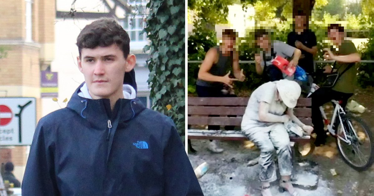 Teenager who flour bombed woman on bench facing jail for ABH on someone else