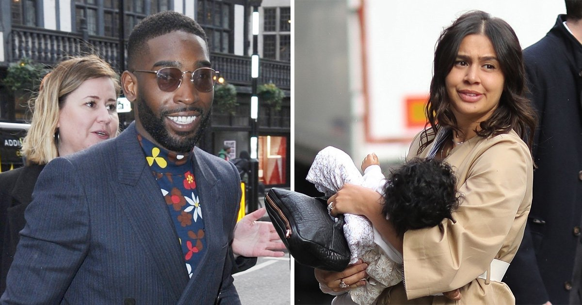 Tinie Tempah heads out with newborn for first time after becoming a father at Christmas
