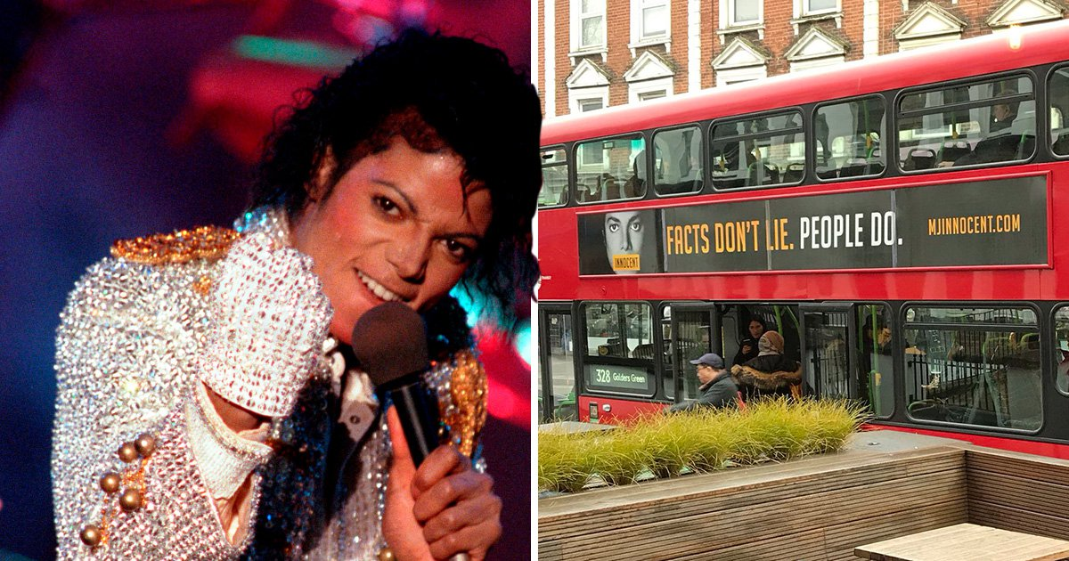 TFL confirm they will remove adverts claiming Michael Jackson's innocence from London buses