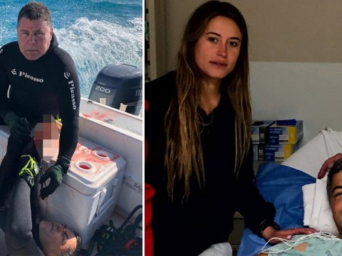 Man's wrist left shredded after 12ft shark ripped his artery