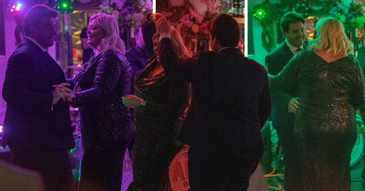 Gemma Collins and Arg look genuinely loved-up as they put fat-shaming drama behind them