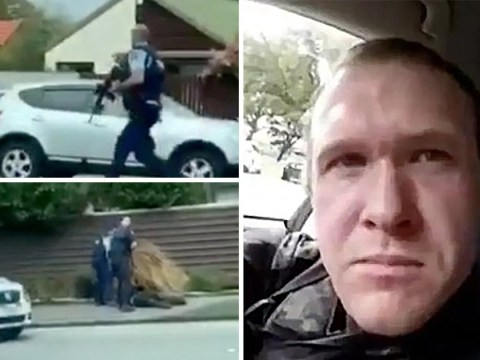 Dramatic moment armed police arrest New Zealand 'terrorist' after mosque attack