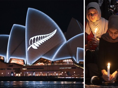 Sydney Opera House lit up with silver fern in solidarity with New Zealand