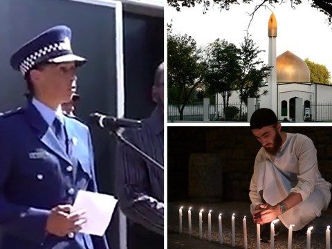 New Zealand's top Muslim police officer breaks down at mosque vigil
