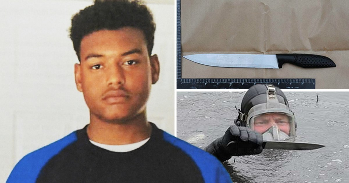 First pictures of knife 'used to murder boy, 17,' in 'postcode gang fued'