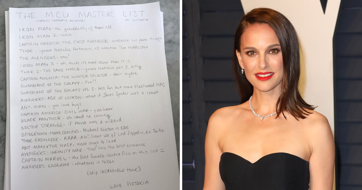 Die-hard Marvel fan urges newbies to 'ignore Natalie Portman' as she offers invaluable advice