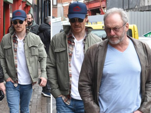 Michael Fassbender and Game Of Thrones' Liam Cunningham paint the city green for St Patrick's Day