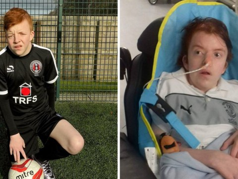 Football fan left unable to speak after stroke shouts 'Hearts are s***' after four months of silence