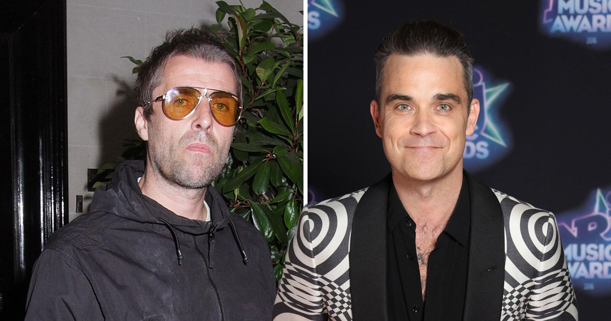 Robbie Williams eggs on fans to slam long-time rival Liam Gallagher during Las Vegas set