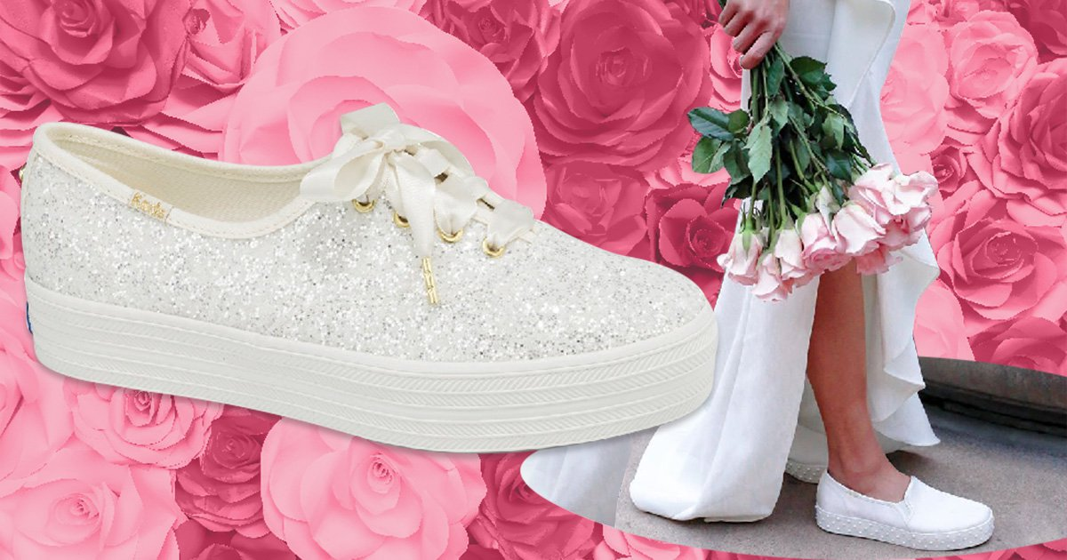 Kate Spade bridal trainers exist so you can enjoy your big day in comfort