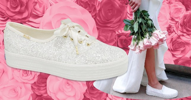 08fafc2b775a Kate Spade bridal trainers exist so you can enjoy your big day in comfort