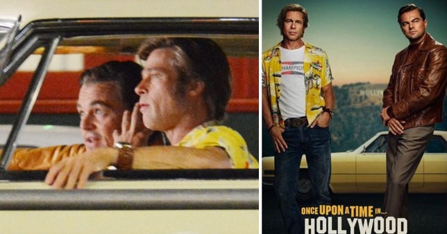 Brad Pitt and Leonardo DiCaprio in Once Upon A Time In Hollywood