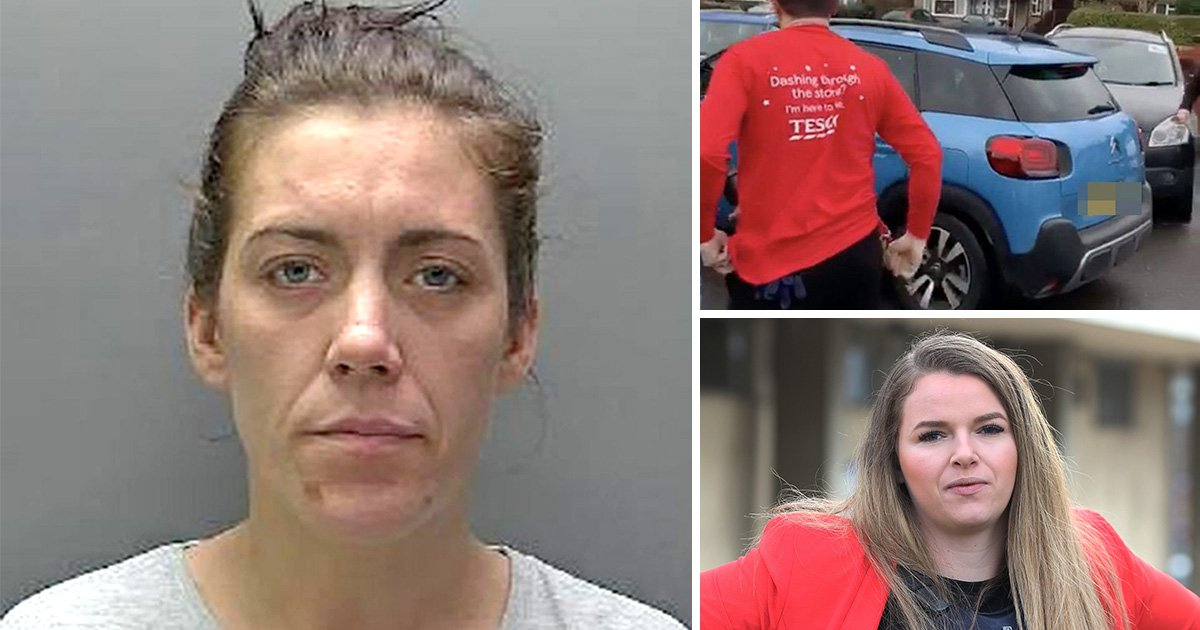 Shoplifter broke Tesco worker's back when she drove into her trying to flee