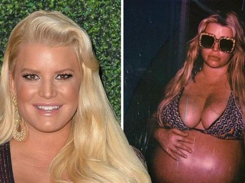Jessica Simpson jokes about 'Jess-tation' in final weeks of tough pregnancy