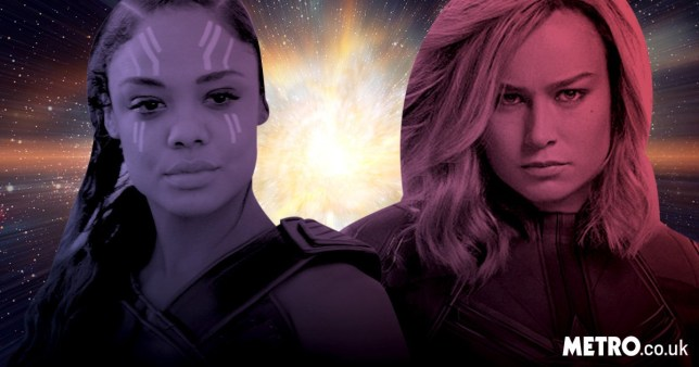 Turns out Brie Larson and Tessa Thompson ship Captain Marvel and Thor's Valkyrie