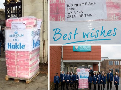 Pupils given 1,000 premium toilet rolls rejected by the Queen