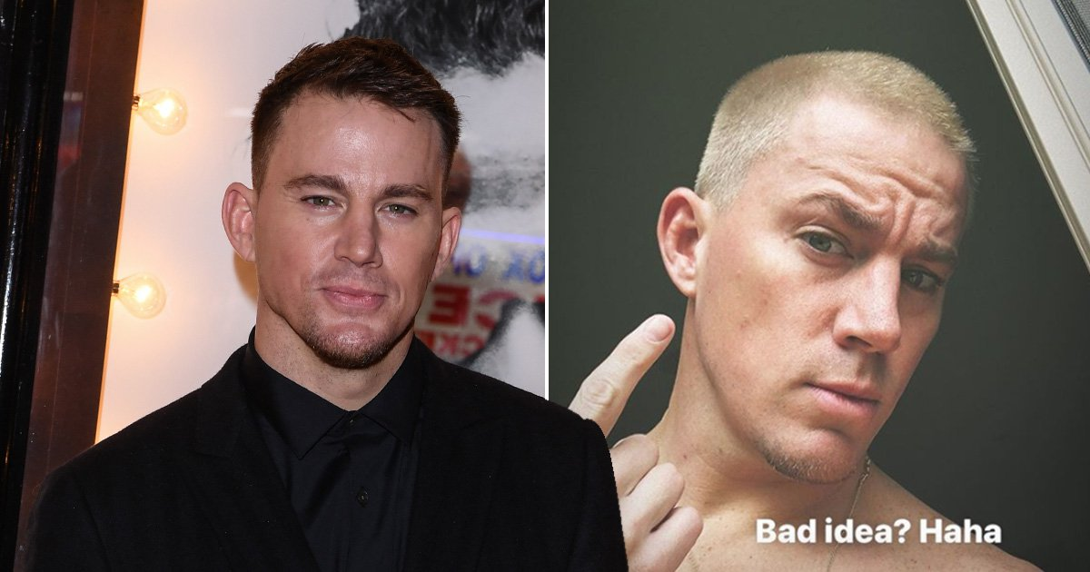Channing Tatum bleaches his hair, then asks fans if it's a bad idea