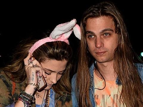 Paris Jackson rocks bunny ears as she heads to watch Macaulay Culkin's podcast with boyfriend