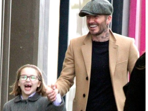 David Beckham is on daddy duty as he takes daughter Harper for swanky shopping trip amid court drama