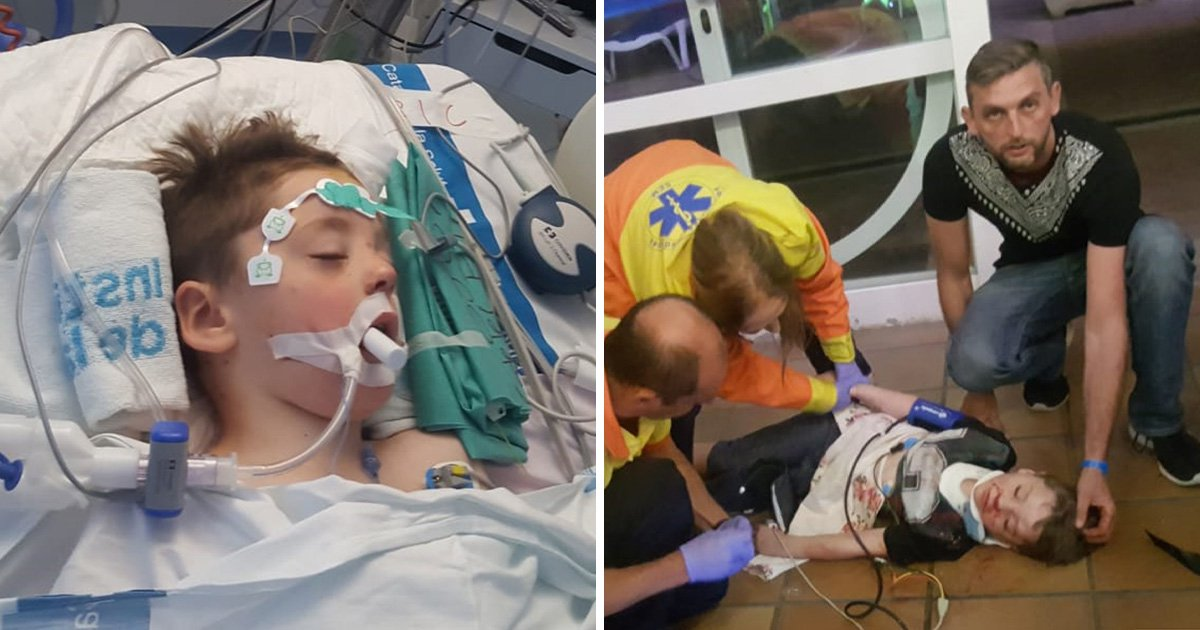 Boy, 6, brain damaged after arcade game fell on him on holiday