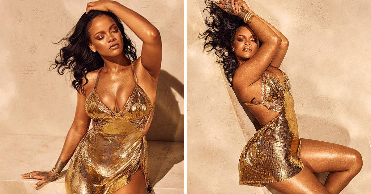 Rihanna slays us with golden goddess vibes in Fenty ad – but where's the new album, though?